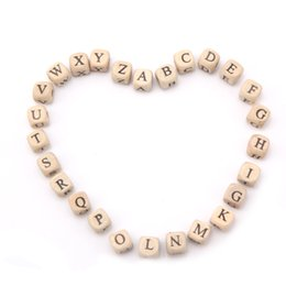 $enCountryForm.capitalKeyWord NZ - cube beads SANSHOOR 10mm Selected Alphabet Letter Natural Wooden Spacer Cube Beads Child Toy DIY Pacifier Clip Kid Craft Art Jewelry 200Pcs