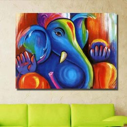 $enCountryForm.capitalKeyWord Australia - Caesar hand painted oil painting modern oil painting on canvas abstract painting Color the elephant cheap modern paintings AN-1015