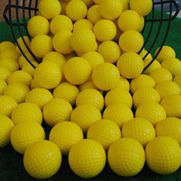 42mm Pratik Golf topları Yumuşak PU Sünger Golf Eğitim Toplar Açık Kapalı koymak Yeşil Hedef Arka Bahçe Salıncak Oyun