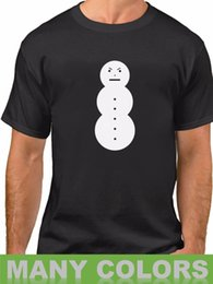 Fitness Christmas Gifts Australia - Angry Snowman Shirt Funny Christmas Present Gift T-Shirt Tee Winter is Coming Print Fitness T-Shirt Men Classic Casual T Shirt