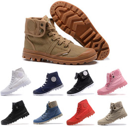 Chinese  Mens designer PALLADIUM Martin BOOTS Pampa Classic brown Men Canvas Shoes Top Fashion Lace-up Style Solid Colors Flat cheap Casual Shoes manufacturers
