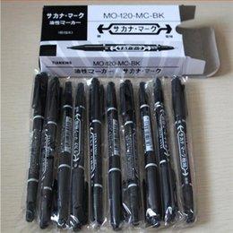 Großhandel Neueste 10 stücke Dual-Tip Schwarz Tattoo Haut Marker Piercing Markierstift Tattoo Supply Für Permanent Make-Up