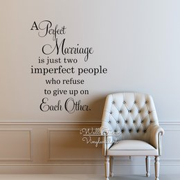 Love Wall Stickers For Bedrooms Australia - Perfect Marriage Quote Wall Sticker, Love Quote Wall Decal, Love Quote Wall Decor For Bedroom Vinyl Sticker Home Decoration Q219