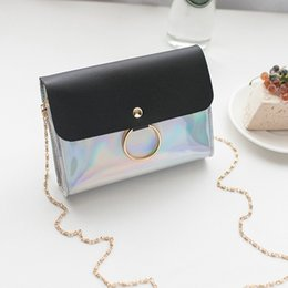 wholesale small evening bags NZ - Laser Crossbody Bag For Women Chain Mini Shoulder Bag Circle Small Messenger Womens Handbags and Purses evening clutch bags