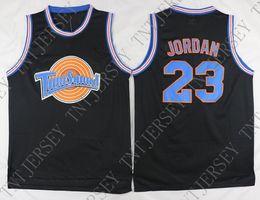 Chicago Bulls Australia - Cheap custom  23 Space Jam Tune Squad Basketball  Jersey MJ Black 50b0b8aed