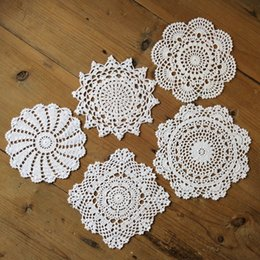 "$enCountryForm.capitalKeyWord Australia - Lot of 15 pcs Per design 3 pieces ~ Round doily for deamcatcher, Dimeter : 7""-8""-9"" nice crochet pattern coasters centerpieces for wedding"