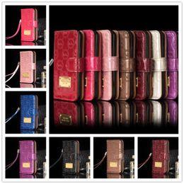Luxus Brieftasche Flip PU Ledertasche für iphone x 7 8 6 6s plus Kartenschlitz Fällen mit Lanyard Halter Cover Classic Letter Pattern Phone Case