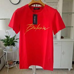 T shirT prinT size online shopping - Balmain Designer T Shirts Black White Mens T Shirts Fashion Mens T Shirts Luxury Short Sleeve Polos Size S XXL