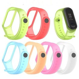 Xiaomi mi band smart wrist online shopping - Transparent Luminous Silicone Straps Replacement for Xiaomi Mi miband Wristband for Mi band3 Smart Band Wrist strap
