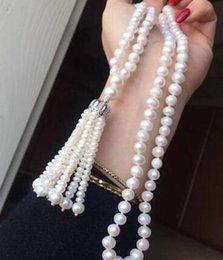 $enCountryForm.capitalKeyWord Australia - Top new style 7-9 mm REAL Freshwater WHITE pearl necklacedfvs