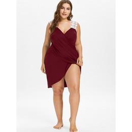 $enCountryForm.capitalKeyWord Australia - Rosegal New Plus Size Lace Strap Bikini Cover-Up Beach Cover Up Women Swimsuit Bathing Suit Cover Up Summer Beachwear Tunic