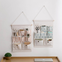$enCountryForm.capitalKeyWord Australia - Cotton Linen Wall Door Hanging Storage Bag Wardrobe Closet Organizer Sundries Storage Pocket Pouch Home Decoration