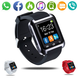 touch screen for kids UK - U8 Bluetooth Smart Watch Touch Screen Camera Pedometer Fitness Sport Watch for Kids Men Women Support TF Card for Android IOS