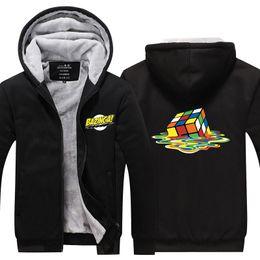 $enCountryForm.capitalKeyWord Australia - Men Velvet Thicken Hooded The Big Bang Theory Rubik Cube Winter Thicken Zipper Casual Jacket Super Warm Sweatshirt USA EU Size Plus Size
