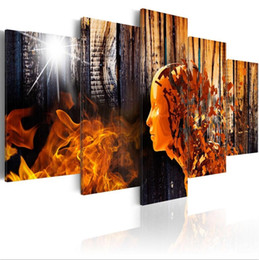 Pictures Gifts Australia - 5Pcs Abstract People Modern Canvas Painting Picture Print Landscape Home Decoration Abstract Wall Art Oil Painting Gift No Frame