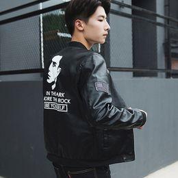 $enCountryForm.capitalKeyWord NZ - Autumn leather men's trend Slim baseball uniform boys spring and autumn handsome casual fashion jacket