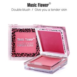 $enCountryForm.capitalKeyWord Australia - Music Flower Two-tone Blush Blush Palette Matte Blusher Powder Long-lasting Cosmetics Silky Pigments Face Makeup