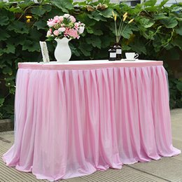 bridesmaid tutus UK - Wedding Bridesmaid Sister Tutu Costume Tulle Table Skirt Party Skirt For Rectangle Or Round Tables TuTu Tablecloth