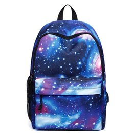 wholesale computer backpacks NZ - Korean version of the shoulder casual sports travel bag student backpacks computer bag Outdoor sports bag Fashion starry pattern