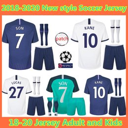 Wholesale Adult Kids KANE spurs Soccer Jersey Champions League LUCAS ERIKSEN DELE SON Men youth tottenham jerseys Football kit shirt