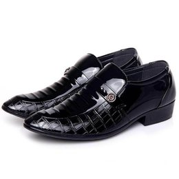 $enCountryForm.capitalKeyWord NZ - 2019 New suit business casual leather shoes red shoes British headdress lazy person leather a foot kick men's wedding shoes
