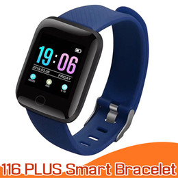 Wholesalers Android Boxes Australia - 116 Plus Smart Bracelet for Apple Android Cellphones Fitness Tracker ID116 Plus Smartband with Heart Rate Blood Pressure in Retail Box