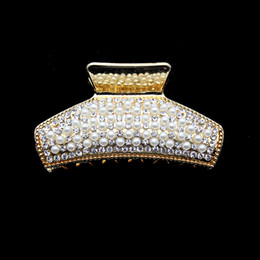 $enCountryForm.capitalKeyWord Australia - ashion Jewelry Jewelry Gold Korean Fashion Luxury Pearl Claws With Rhinestones Crystal Crab Hair Claw Clip Hairpins For Women Girls Hair...