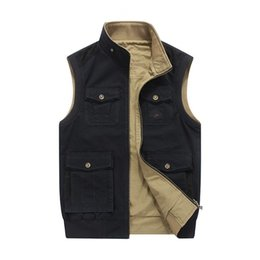 $enCountryForm.capitalKeyWord NZ - Plus Size M-8xl Loose Men Vest With Many Pockets Denim Design Colete Masculino Tactical 100% Cotton Military Brand Afsjeep T2190601