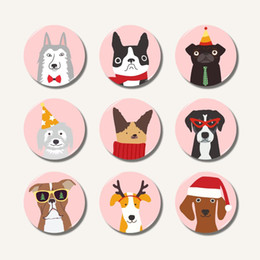 $enCountryForm.capitalKeyWord Australia - Lychee 3D Cartoon Dog Fridge Magnet Kawaii Round Glass Refrigerator Magnetic Sticker Home Decoration Travel Souvenirs