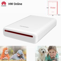 Großhandel Huawei Mini-Fotodrucker bewegliche Taschen Drucker Ehre Handy AR Drucker 300dpi Bluetooth 4.1 Unterstützung DIY Teilen 500mAh
