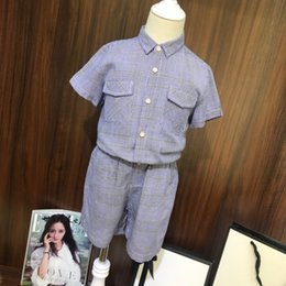 Double Shirt Designs Australia - Children's wear boy coat baby Short sleeve shirt child 2019 new products Wholesale prices Double pocket plaid casual design in