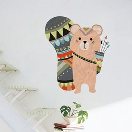 hunting decor NZ - 44*53cm style hunting bear Wall Stickers PVC Removable Wall Decals for home decoration Papers for kids room decor