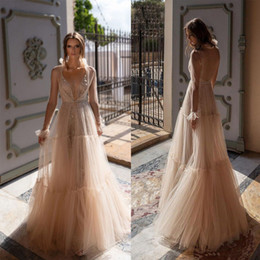$enCountryForm.capitalKeyWord Australia - 2019 Beaded Side Split Prom Dresses Long Crystal Deep V Neck A Line Evening Gowns Formal Tulle Plus Size Party Dress robes de soirée