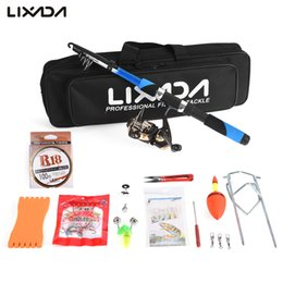 Fishing rods 2.1m online shopping - Lixada Fishing Rod Reel Lure Combo Set with m Fiberglass Rod Spinning Reel Lure Baits Hooks Fishing Bag Kit