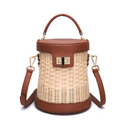 $enCountryForm.capitalKeyWord Australia - Free Shipping Hand-woven Rattan Bag, Cowhide Woven Bag, Imported High-grade Rattan, Handmade,handbag, Shoulder Bag Leather Bag