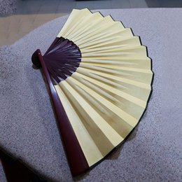 lighting chinese painting Australia - Folding Hand Fan Men'S Black Bamboo Spun Silk Calligraphy Painting Writing Dancing Chinese Held Fans Wedding Party Favor(Yellow) Other Home
