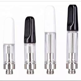 Wholesale Empty Vape Pen TH205 Cartridges 1ml Ceramic Glass foam Thick Oil Dab Pen Wax Vaporizer Carts Atomizer E Cigarette 510 Thread Battery