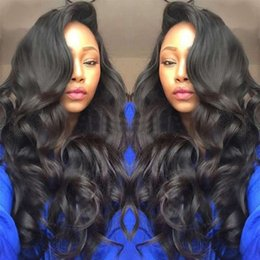 $enCountryForm.capitalKeyWord Australia - Silk Top Full Lace Human Hair Wigs Pre Plucked Hairline Brazilian Body Wave Lace Frontal Wig with Baby Hair for Women Remy
