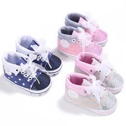 $enCountryForm.capitalKeyWord Australia - 0-18M Kids Boys And Girls Canvas Lace-up Shoes Baby Non-slip Soft Bottom First Walker Shoes