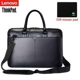 6d2d3381f66f9 Lenovo ThinkPad Laptoptasche Leder Schultertasche Männer und Frauen  Handtasche Aktentasche T300 Für 15