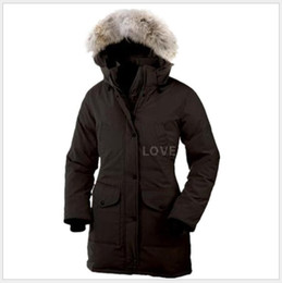Wholesale 2019 Canada brand Womens Down Parkas new thick warm and windproof waterproof long section slim solid color goose down jacket female winter 6