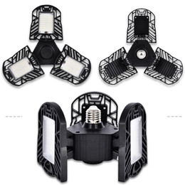 Lighting areas online shopping - LED Garage Lights W E27 LM Deformable Ceiling Lighting for Full Area Ultra Bright Mining Lamps with Adjustable Panels LED Light