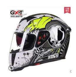 Full Carbon Fiber Motorcycle Helmet Australia - GXT motorcycle helmet full-helmet electric two-lens four seasons helmet