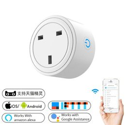 wifi smart socket Canada - Wifi smart socket British standard alexa mobile phone timer switch socket remote control smart home manufacturers