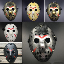 hockey masks Australia - Horror Cosplay Costume Friday the 13th Part 7 Jason Voorhees 1 Piece Costume Latex Hockey Mask Vorhees