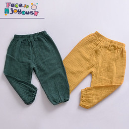 $enCountryForm.capitalKeyWord Australia - Girls Cotton Pants Children Trousers Baby Clothes Boys Bloomers Pure Color Kids Casual Leggings Pants 2019 Spring Autumn New
