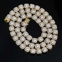 Luxury Chains Australia - Mens 10mm Top Quality Hip Hop 18K Gold Iced Out Round CZ Zircon Tennis Chain Necklace Luxury Designer Rapper Chains Jewelry Gifts for Boys