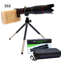 Camera optiCs online shopping - 36X Zoom Telescope Mobile Phone Lenses Universal K HD Single Focus Optic Lens For iPhone Samsung Huawei Camera Lens