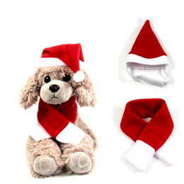 $enCountryForm.capitalKeyWord Australia - Christmas Festive Air Pets Hats Scarf For Pet Change New Year Cloak Christmas Clothes Custom Free Shipping