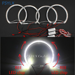 led headlights for cars NZ - FSYLX Crystal LED angel Eyes for E36 E38 E49 E46 Projector Car LED headlight halo ring SMD CreesLED angel Eyes for